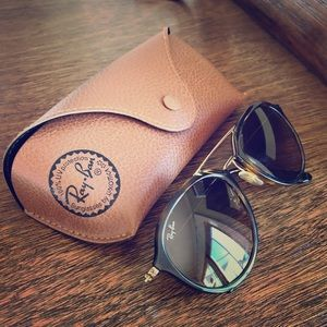 Ray Ban Sunglasses - contemporary pilot frames.